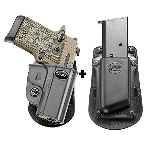 Fobus KMSG Paddle Conceal Concealed Carry Holster Sig P938 & P238+ 3901-45 Single Mag Pouch ()