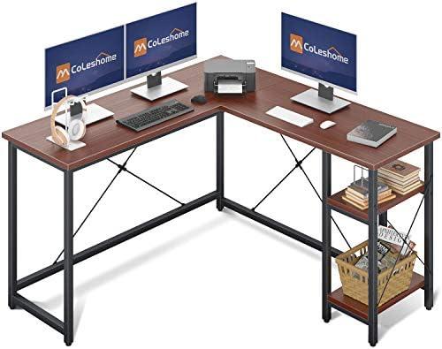 Coleshome L Shaped Computer Desk