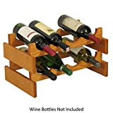 Wooden Mallet WR42-MO Medium Oak Stain Wine Rack