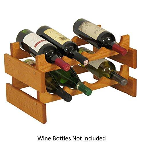 Wooden Mallet WR42-MO Medium Oak Stain Wine Rack