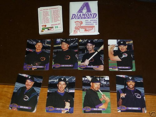 2001 ARIZONA DIAMONDBACKS TEAM BASEBALL CARD SET. MINT