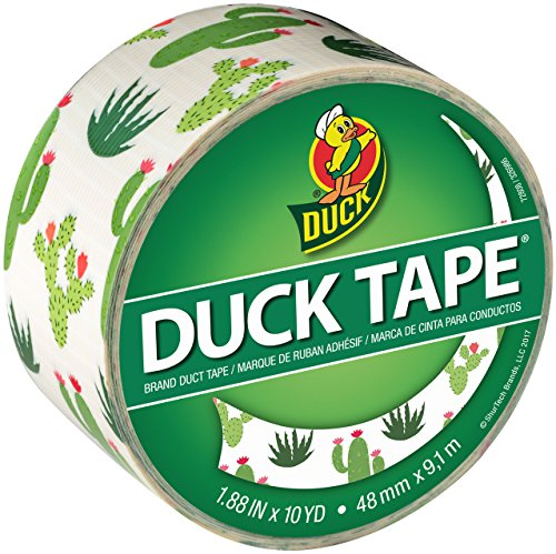 Duck Brand 241789 Printed Duct Tape, 1.88 Inches x 10 Yards, Cacti, Single Roll ()