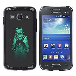 Qstar Arte & diseño plástico duro Fundas Cover Cubre Hard Case Cover para Samsung Galaxy Ace 3 III / GT-S7270 / GT-S7275 / GT-S7272 ( Man Monster Creation Mad Genius Art Ai Robot)