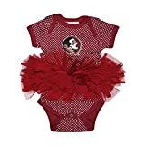 Florida State Seminoles Polka Dot Newborn Infant Tutu Creeper Bodysuit (6 Months)
