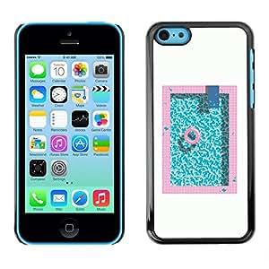 Be Good Phone Accessory // Dura Cáscara cubierta Protectora Caso Carcasa Funda de Protección para Apple Iphone 5C // Pool Minimalist White Pink Blue Lifesaver
