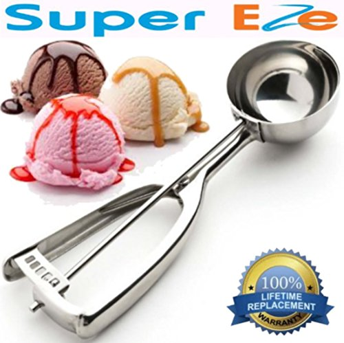 Disher Ice Cream - That Ice Cream Scoop by SuperEze. The Best 18/8 Stainless Steel - Large 6 cm Size 14 Cupcake Batter & Muffins Scoops - Portion Control Metal Disher & Ice-Cream Scooper - 2.5 Ounce. FREE Cookie Recipes