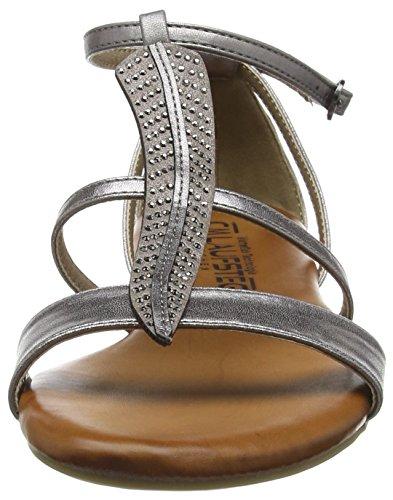 Laufsteg München Fs161303 - Sandalias Mujer Plateado - Silber (metalic silver)