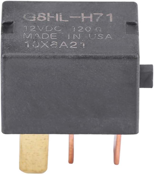 Rel/é de compresor rel/é de fusible de pl/ástico premium negro Caracter/ísticas estables Instalaci/ón f/ácil