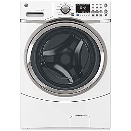 GE GFW450SSKWW 4 3 Cu Ft Front Load Machine With 9 Wash Cycles White