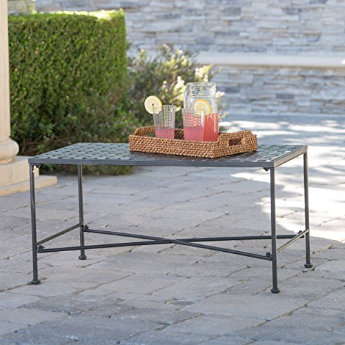 Cheap  Kent Outdoor Black Iron Coffee Table