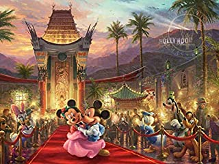 product image for Ceaco Thomas Kinkade The Disney Collection Mickey and Minnie Hollywood Jigsaw Puzzle, 750 Pieces