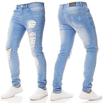 Amazon.com: Farjing - Pantalones para hombre con cremallera ...