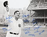 """Ne York Yankees """"Babe Ruth"""" 16x20 Photo Signed by (16) with Al Downing, Roy White, Fritz Peterson, Gene Michael, Ron Blomberg (MAB Hologram)"""