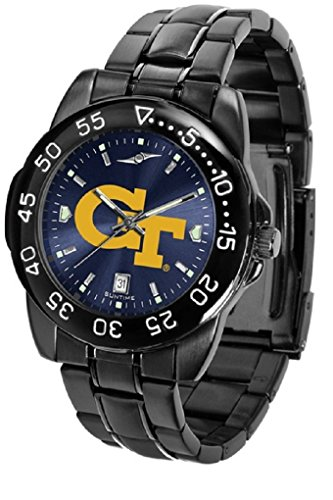 SunTime Collegiate Fantom Sport Anochrome Premium Mens Watch with Gunmetal Band (Georgia Tech) ()