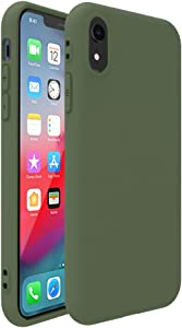 iPhone XR Case,Pelipop Colorful Dark Green Slim Fit Anti-Scratch Soft TPU Gel Silicone Skin Frosted Protective iPhone Cover for iPhone XR(Dark Green)