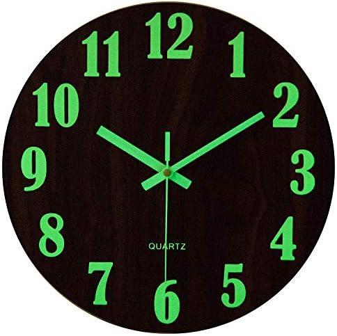 Función de luz nocturna Reloj de pared con grandes números 3D ...