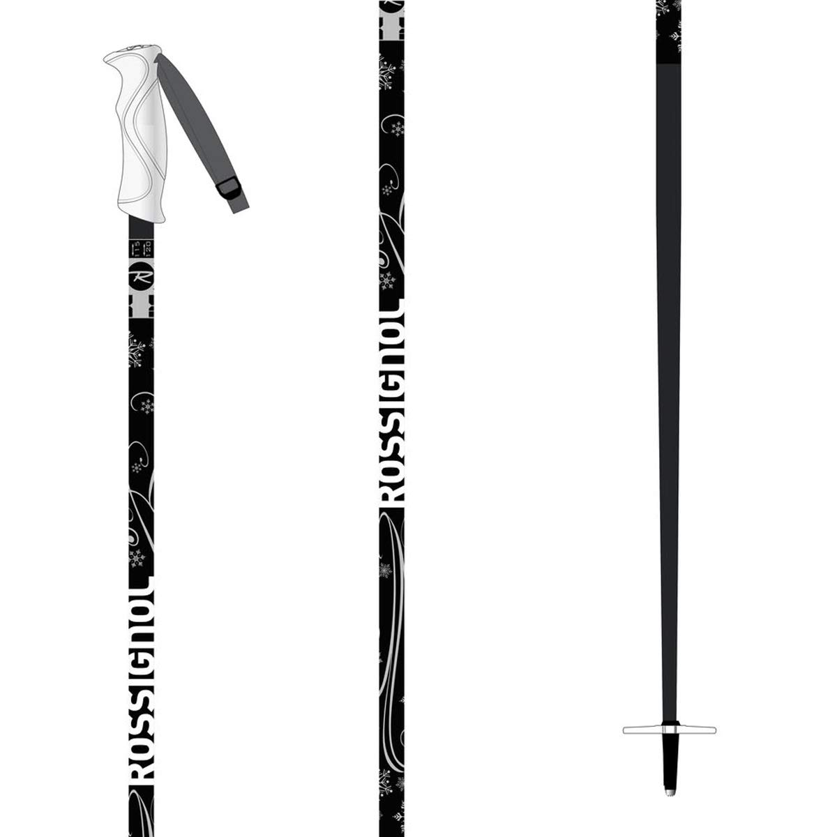 Rossignol Snow Flake Womens Ski Poles 2020-115cm/Black by Rossignol