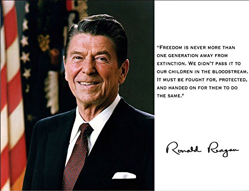 Ronald Reagan President Freedom Quote 8x10 Photograph B00S0M3ZRK