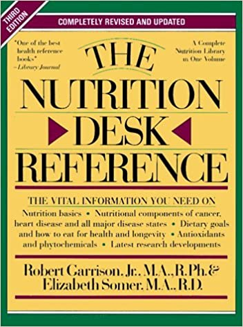 The Nutrition Desk Reference by Robert H. Garrison (1995-11-30)