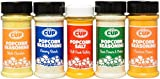By The Cup Signature Popcorn Seasoning Variety Pack to Include: Sour Cream & Onion, White Cheddar, Cheddar Cheese, Creamy Ranch, & Ball Park Buttery