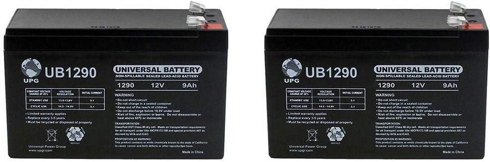Amazon.com: Universal Power Group 9Ah 12V Sealed Battery Fits Aqua Vu Marcum  Vexilar 12VOLT - 2 Pack: Home Audio & TheaterAmazon.com