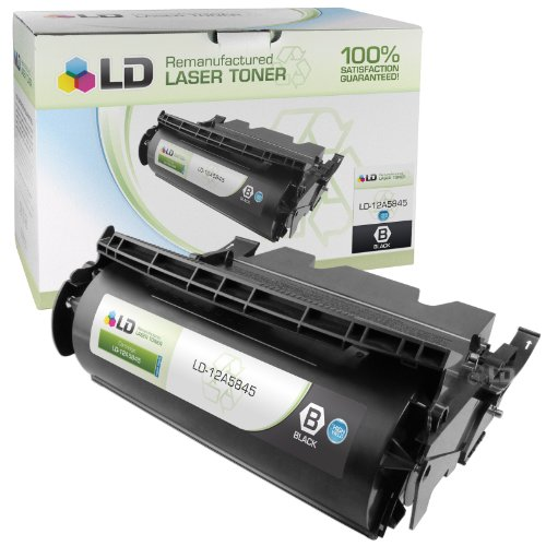 LD Remanufactured Toner Cartridge Replacement for Lexmark 12A5845 High Yield (Black)