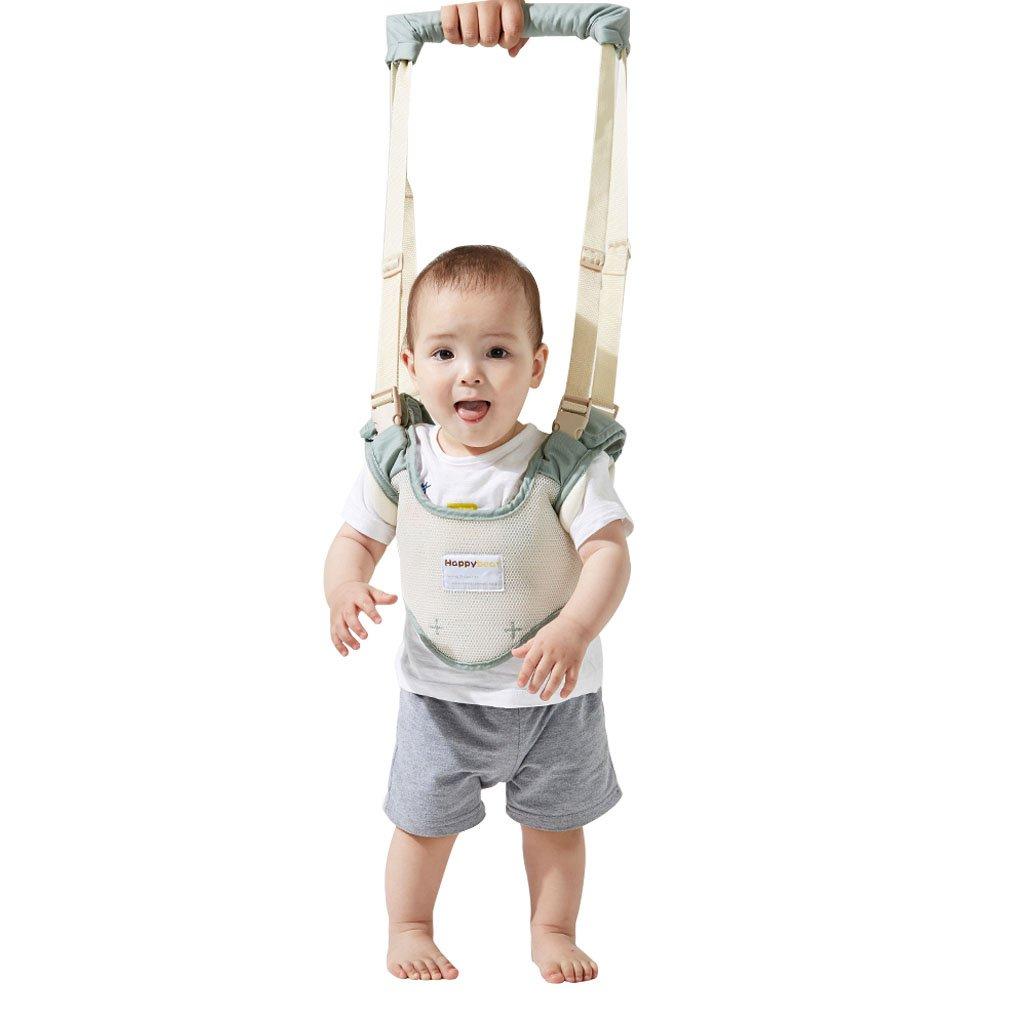 Bebé Caminar Arnés - Seguridad Asistente Niños Andador Anti Perdido Correa Proposito Doble,Verde