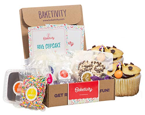 BAKETIVITY Kids Baking DIY Activity Kit - Bake Delicious Bug Cupcakes with Pre-Measured Ingredients - Best Gift Idea for Boys and Girls Ages 6-12