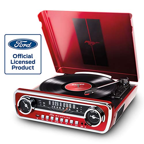 Ion Audio Mustang LP Ford 4-in-1 Classic Car Styled Music Center, ()