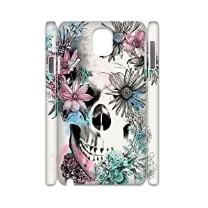 C-Y-F-CASE DIY Flower Skull Pattern Phone Case For samsung galaxy note 3 N9000 by lolosakes