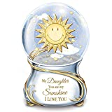 Musical Glitter Globe for Daughter with Poem Card Plays You Are My Sunshine by The Bradford Exchange