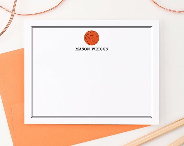 amazon com basketball personalized stationery set boys