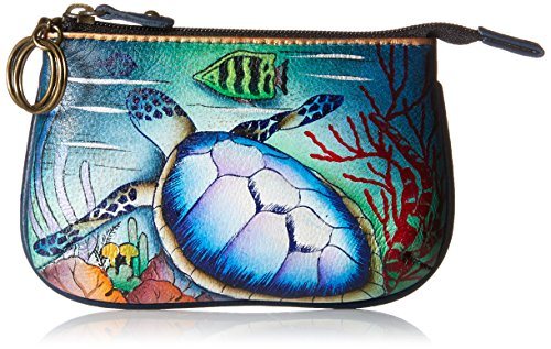 Anuschka Women's Medium Coin Purse Ot, Ocean Treasures, One Size