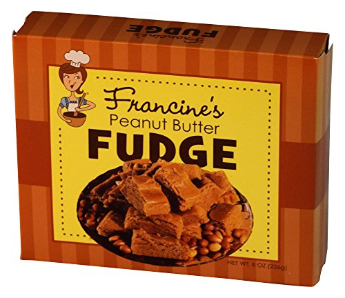 McJak Candy Company Francine's Peanut Butter Fudge, 8 Ounce (Pack of 24) (Gourmet Chocolate Peanut Butter Fudge)