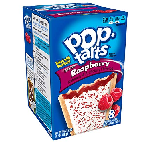 Pop-Tarts Breakfast Toaster Pastries, Frosted Raspberry Flavored, 14.7 oz (8 Count)