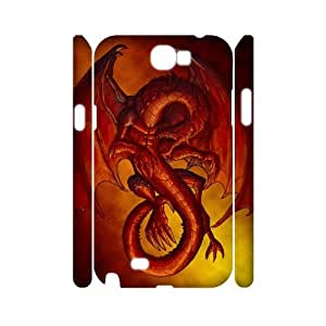 EZCASE Red Dragon Phone Case For Samsung Galaxy Note 2 N7100 [Pattern-4]