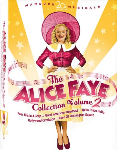 Alice Faye Collection 2 (Rose of Washington Square/Hollywood Cavalcade/The Great American Broadcast/Hello, Frisco, Hello/Four Jills in a Jeep) (Full Chk - Clair Square St