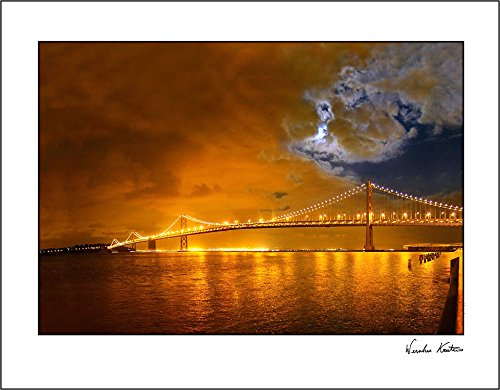 Bay Bridge at Night Poster Print, San Francisco 14