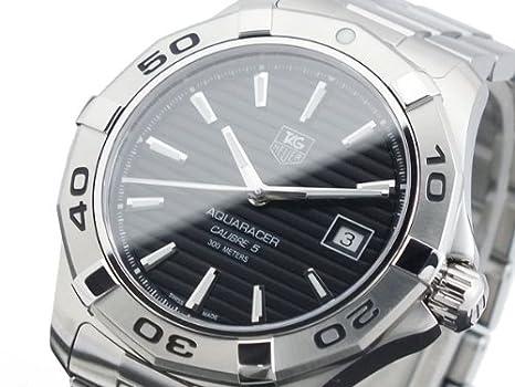 hot sale online 2c0ec bbdaa Amazon.com: TAG Heuer Aquaracer Calibre 5 Automatic Steel ...