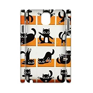 Yoga Cats DIY 3D Cover Case for Samsung Galaxy Note 3 N9000,personalized phone case ygtg573488