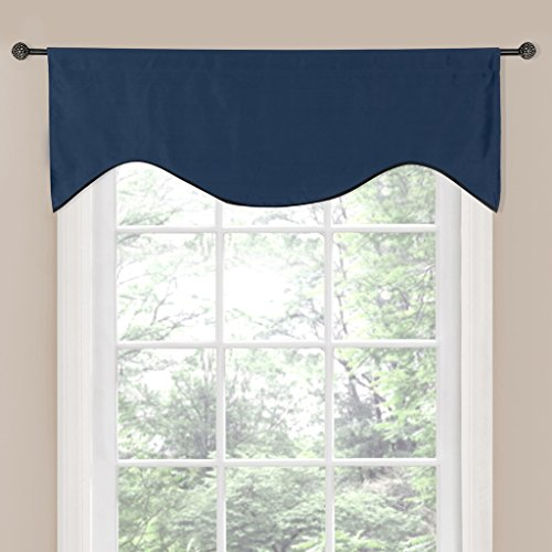 H.Versailtex Ultra Soft Window Curtain Valance for Kitchen,Bath,Laundry,Bedroom,Living room(Rod Pocket,Set of 1 Panel-50