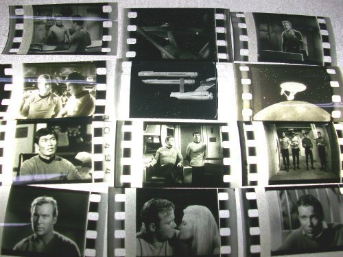 STAR TREK TOS Lot of 12 original black and white 35mm Film Cells -