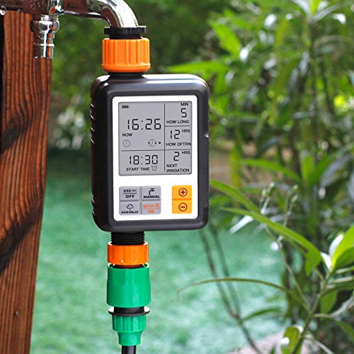 Sprinkler Timer, KKmoon Large Screen Multifunctional Timing Watering Device Outdoor Garden Sprinkler Controller Intelligent Automatic Watering Timer