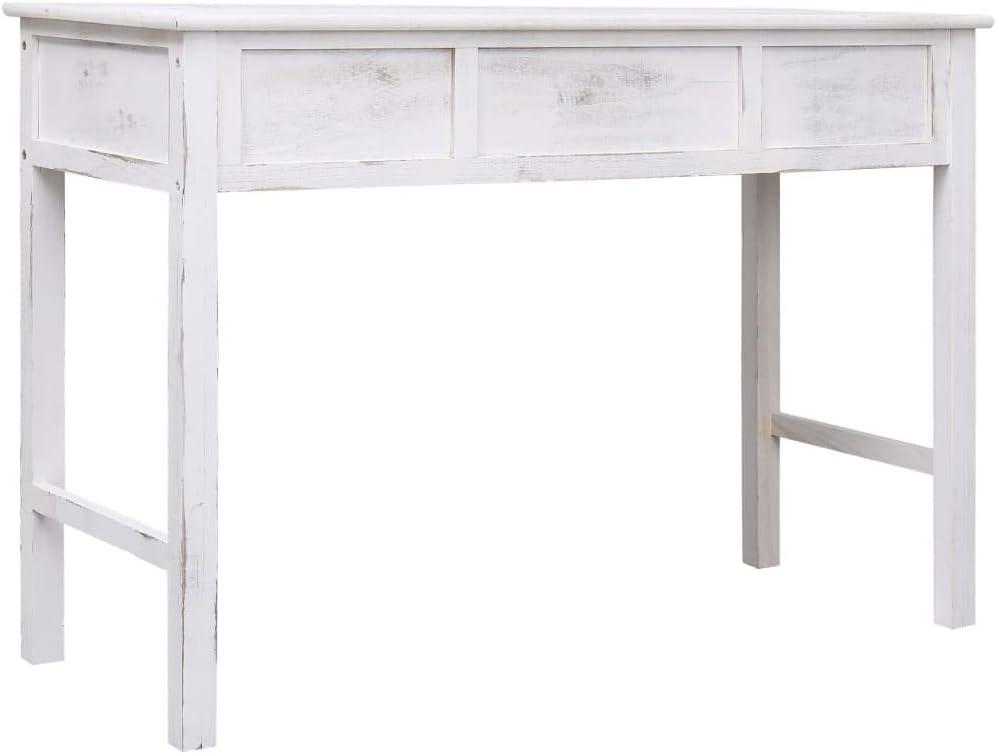 Festnight Table d entr/ée de Salon Table Console cusine Blanc Antique 110 x 45 x 76 cm Bois