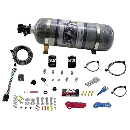 Nozzle System Single (Nitrous Express 20915E85-12 E85 35-150 HP Universal Single Nozzle System for EFI with 12 lbs. Composite Bottle)