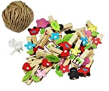 [Bus] 50 Pcs Cute Wooden Photo Clips Craft Photo Paper Pegs Clothespins