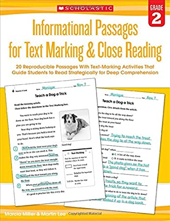 Informational Passages for Text Marking & Close Reading: Grade 3 ...
