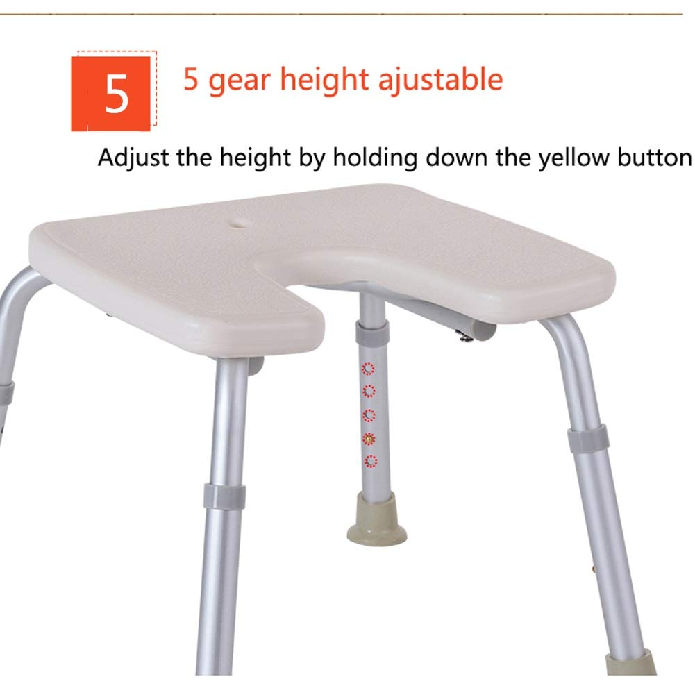 BEAUTY--shower stool Anti-Slip Shower Chair for The Elderly/Pregnant Women/Disabled,Bath Assist Seat with Backrest,Adjustable Height by BEAUTY--shower stool (Image #8)