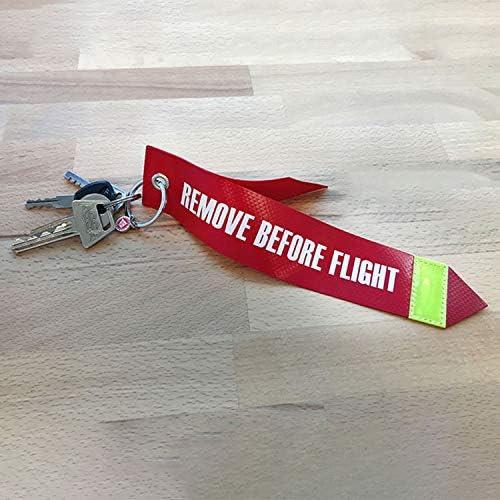 Remove Before Flight Original Luftfahrtmaterial 1 Anhänger Groß Format Koffer Rucksäcke Taschen