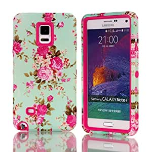 Galaxy Note 4,Ezydigital Carryberry Case Cover With Polka Dot Design For Samsung Galaxy Note 4 (SM-N910) (T-mobile,AT&T,Verizon,Sprint,International)(HOT PINK)